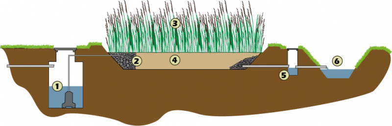 Horizontal Flow Constructed Wetland